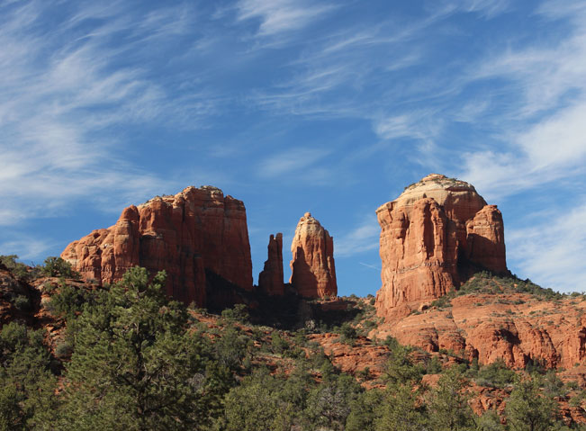 Cathedral Rock, Sedona, Arizona, Rock Spires, Cathedral Rock Hiking Trail