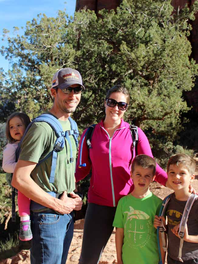 Family, Hikers, Arizona, Sedona, Portrait