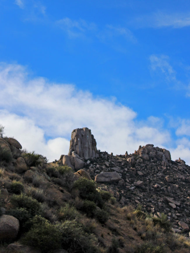 Stone formation, Summit, Peak, Tom's Thumb, Scottsdale, Phoenix, Arizona, Tom's Thumb Hiking Trail