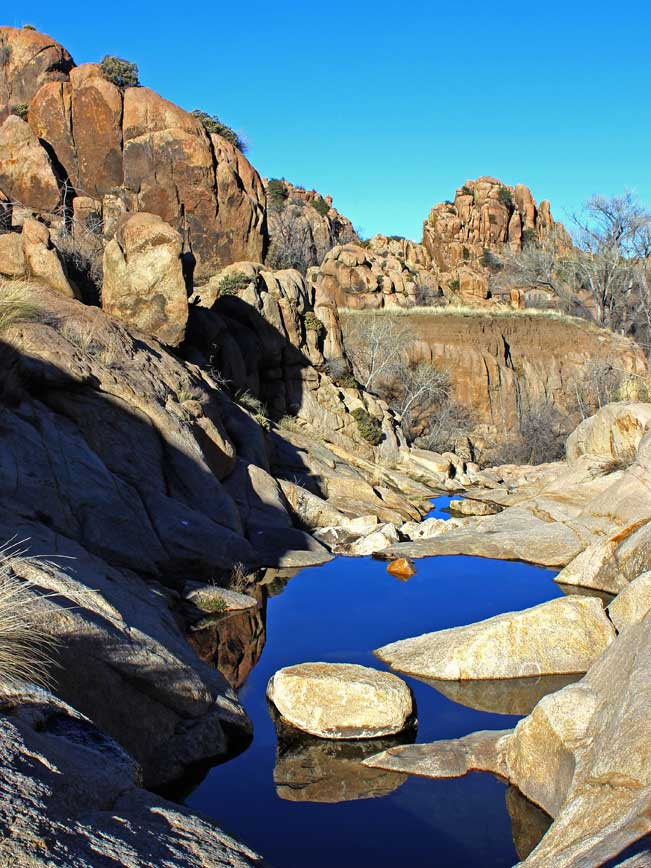 View, Canyon, Reflective Pools, Boulders, Prescott, Arizona, Central Arizona, Hike, Willow Lake Loop Hiking Trail
