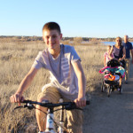 Family, bicycle, stroller, hiking, trail, Willow Lake Loop Trail, Prescott, Central Arizona, Family Hikes, Arizona's Best Family Hikes