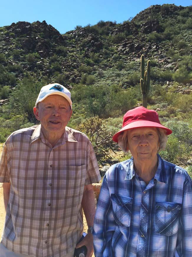 Hiking, Couple, Seniors, Arizona, White Tank Mountains, Hiking Heros, Hiking at every Age