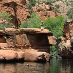 Hikers, Swimming Hole, Canyons, Wet Beaver Creek Valley, Arizona, Bell Trail, Sedona, Water Hikes, Best Summer Hikes Arizona, Arizona Hiking Trails with Water