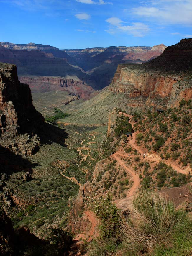 Landscape,Switchbacks, Grand Canyon, Bright Angel Hiking Trail, Northern Arizona