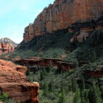 Lansdcape, Hiker, Ledge, Sedona, Arizona, Boynton Canyon, Pine Trees, Canyons, Boynton Canyon Hiking Trail, Sedona Area, Best Sedona Hikes