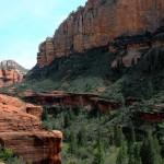 Lansdcape, Hiker, Ledge, Sedona, Arizona, Boynton Canyon, Pine Trees, Canyons, Boynton Canyon Hiking Trail, Sedona Area, Best Sedona Hikes