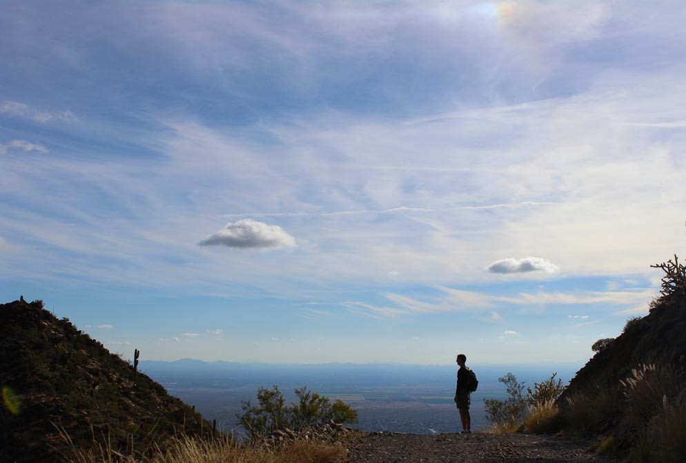 Overlook, Hiker, Scottdale, Arizona, Thompson Peak, McDowell Mountains, View, Phoenix, 10 Great Reasons to Hike