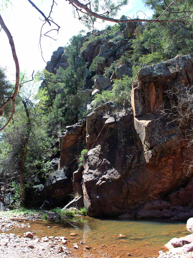 Landscape, Boulders, Creek, Pine Creek Hiking Trail, Tonto Bridge National Park, Payson, Arizona