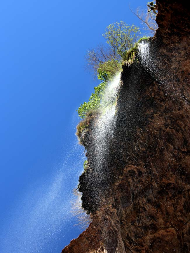 Skyward View, Tonto Natural Bridge, Waterfall, Payson, Arizona, Hiking Trail