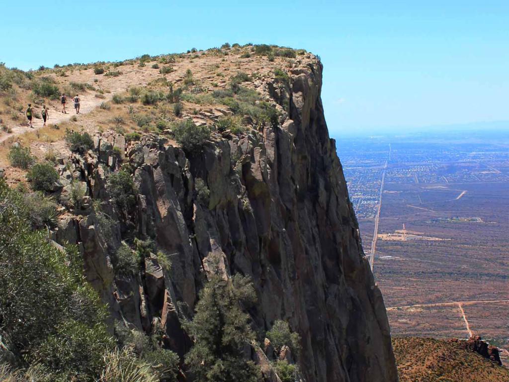 Landscape, View, hikers, Flatiron Mesa, Central Arizona, Superstition Mountains, Lost Dutchman State Park's Siphon Draw Hiking Trail, Apache Junction, Phoenix