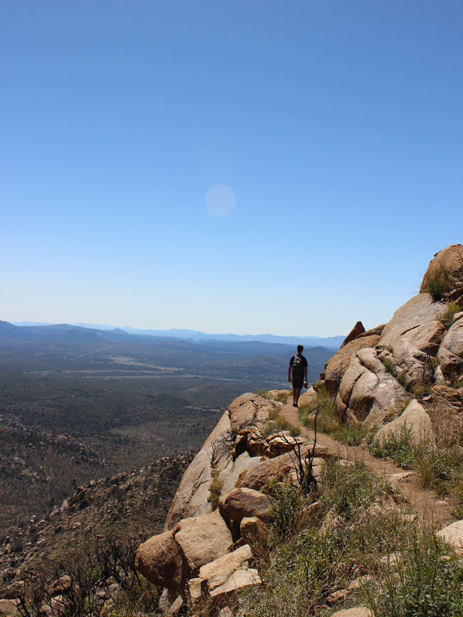 Landscape, View, Hiker, Prescott, Arizona, Granite Mountain Hiking Trail