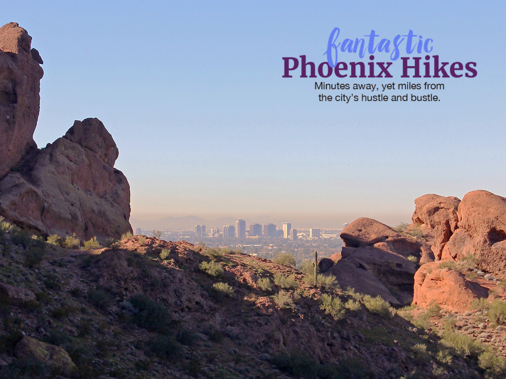Landscape, View, Phoenix, Arizona, Echo Canyon Hiking Trail, Camelback Mountain