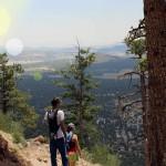 Hikers, Mountain Top, Flagstaff, Arizona, Elden Lookout Hiking Trail, View, Plains, Flagstaff Area, Hiking Flagstaff AZ, Arizona Hiking Trails Flagstaff