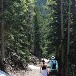 Hikers, Flagstaff, Arizona, Bear Jay & Abineau Loop Trail, Snow, Mount Humphreys, Flagstaff Area, Hiking Flagstaff AZ, Arizona Hiking Trails Flagstaff