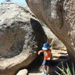 Young Hiker, Rocks, Flagstaff, Arizona, Fatmans Loop Trail, Family Hikes, Arizona's Best Family Hikes