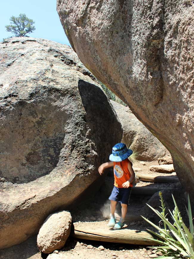 Young Hiker, Rocks, Flagstaff, Arizona, Fatmans Loop Hiking Trail