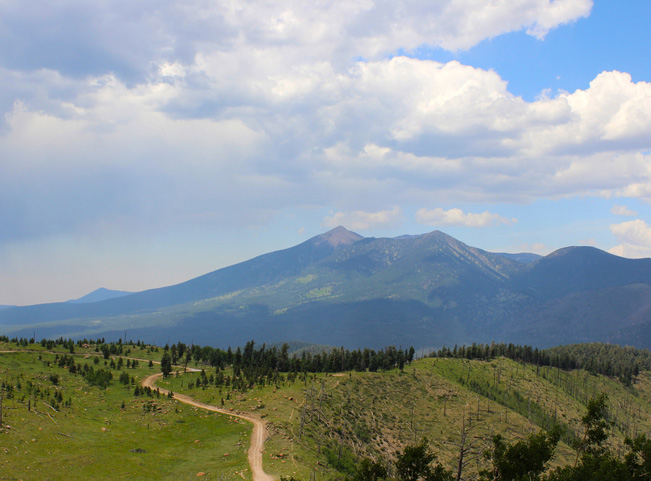 Landscape, View, Mount Humphreys, Elden Lookoout Trail, Flagstaff, Arizona, Elden Mountain, San Francisco Peaks.