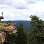 Landscape, View. Young Hiker Overlook, Payson, Arizona, Mogollon Rim Trail, Family Hikes, Arizona's Best Family Hikes