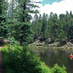 Landscape, View,Woods Canyon Hiking Trail, Kayak, Woods Canyon Lake, Mogollon Rim, Payson, Arizona, Water Hikes, Best Summer Hikes Arizona, Arizona Hiking Trails with Water
