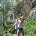 Girls, Hikers, Granite, Canyon, Flagstaff, Arizona, Kachina Trail, San Francisco Mountains, Family Hikes, Arizona's Best Family Hikes