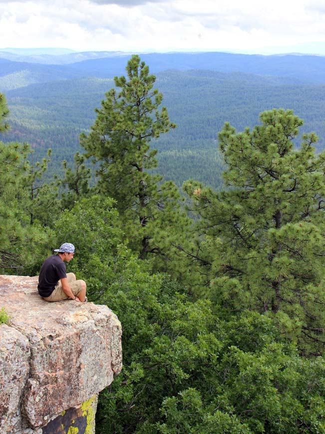 Landscape, View. Hiker Overlook, Payson, Arizona, Mogollon Rim Trail, Rim Lakes Vista Hiking Trail