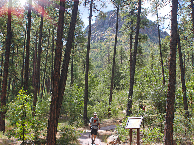 A landscape, Hiker, Base, Prescott, Arizona, Thumb Butte Hiking Trail