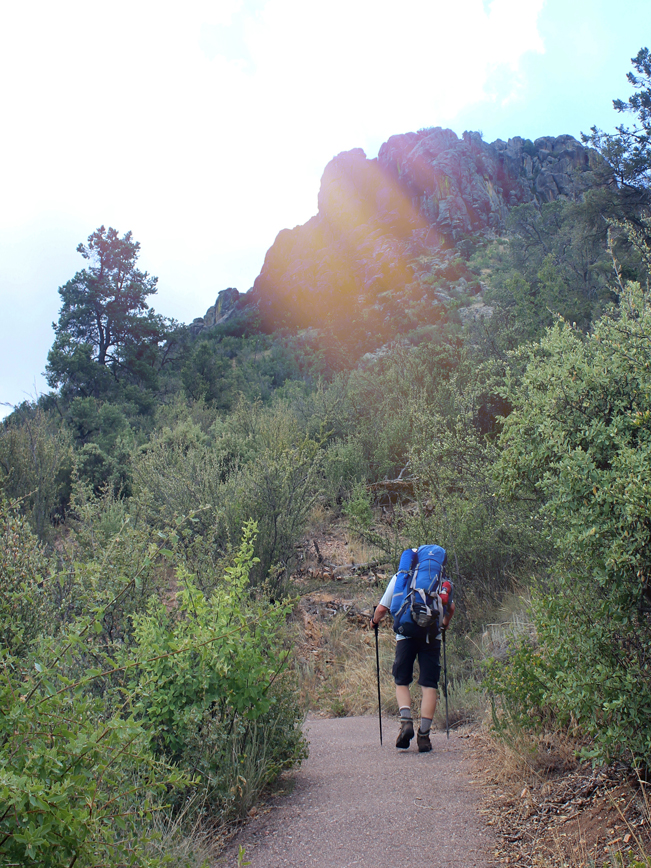 Landscape, Hiker, Backpack, Prescott, Arizona's Thumb Butte, Thumb Butte Loop Hiking Trail