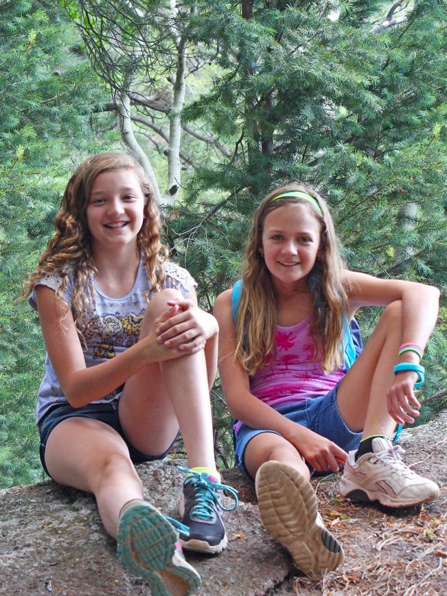 Portrait, Two Young Hikers, Flagstaff, Arizona, Kachina Hiking Trail