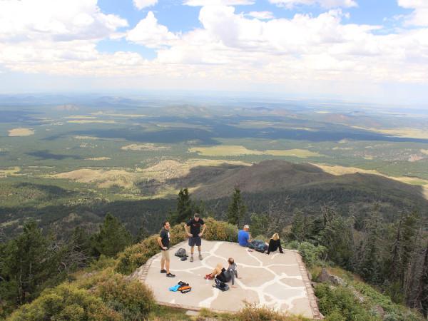 Hikers, Views, Summit, Peak, Flagstaff, Arizona, Kendrick Peak, Kendrick Mountain Hiking Trail