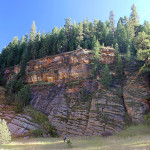 Hiker, Arizona Hiking Trail, Tall Cliffs, Flagstaff, Arizona, Walnut Canyon, Sandys Canyon Hiking Trail, Family Hikes, Arizona's Best Family Hikes