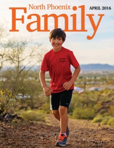 Cover of North Phoenix Family Magazine, April 2016 Issue