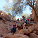 Landscape, View, Hikers, Boulders, Camelback Mountain, Echo Canyon Hiking Trail, Phoenix, Arizona, Phoenix Area Hiking Trails, Arizona Hiking Trails Phoenix