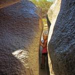 Girl, Hiker, Mini Slot Canyon, Phoenix, Arizona, Mormon Hiking Trail, Hidden Valley, South Mountain, Family Hikes, Arizona's Best Family Hikes