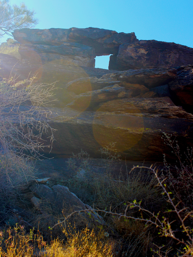 Landscape, View, Natural Window, Rock Formation Phoenix, Arizona, Hidden Valley, South Mountain.
