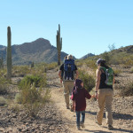 Family, Hikers, Rainbow Valley and Toothaker Hiking Trail Loop, Goodyear, Arizona, Estrella Mountain Regional Park, Phoenix, Views, Mountains, Saguaros, Phoenix Area Hiking Trails, Arizona Hiking Trails Phoenix