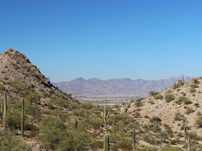 View, White Tank Mountains, Goodyear, Estrella Mountain Regional Park, Phoenix, Arizona, Rainbow Valley and Toothaker Hiking Trail Loop