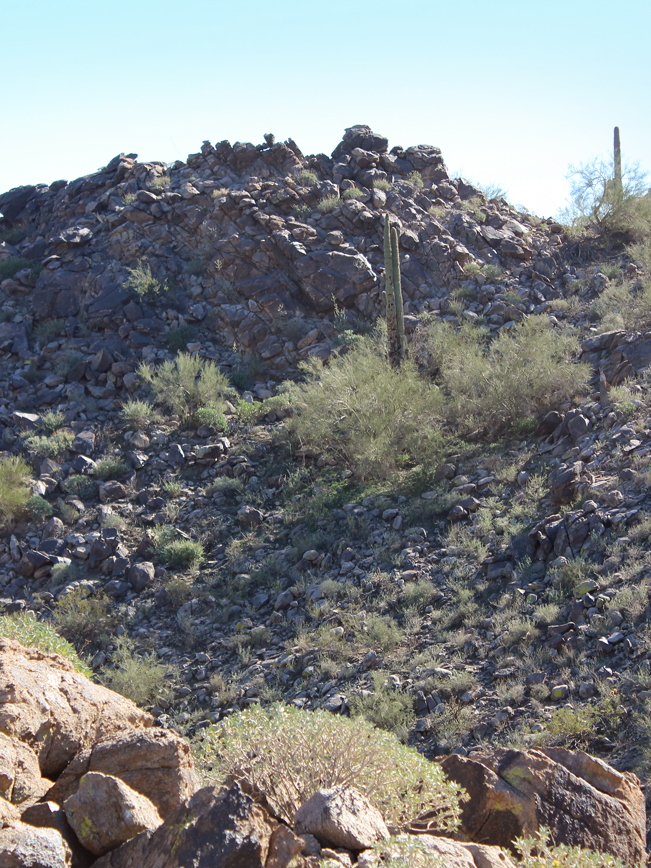 Landscape, View, Boulders, Hill, Goodyear, Arizona, Estrella Mountain Regional Park. Rainbow Valley and Toothaker Hiking Trail Loop, Phoenix