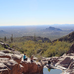 Hikers, Hieroglyphics Hiking Trail, Superstition Mountains, Phoenix, Arizona, View, Pool of Water Canyon, Family Hikes, Arizona's Best Family Hikes