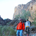 Hikers, Hunter Hiking Trail to Picacho Peak, Tucson, Cliffs,Picacho Peak, Tucson Area, Tucson AZ Hiking Trails