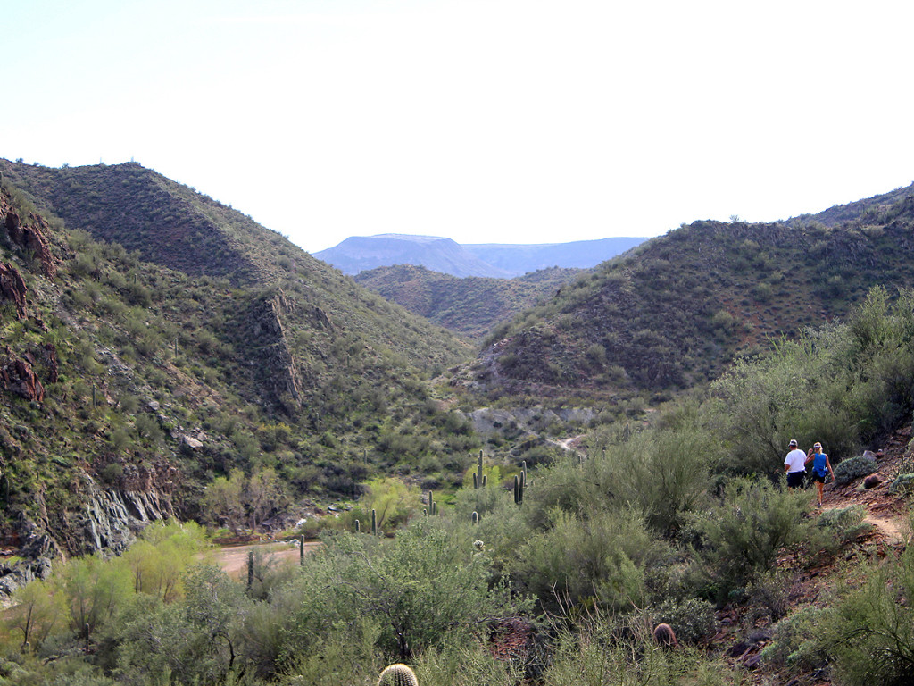Landscape, View, Hikers, Rock Springs Spur Trail, Aqua Fria River, Black Canyon City Trail, Horseshoe Bar, Bradshaw Mountains, Phoenix Area, Black Canyon City, Water Hikes