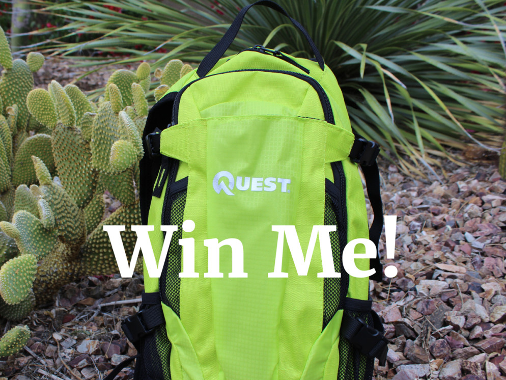 One-year Anniversary Giveaway, Prize, Qwest Hydration Backpack, Hiking Gear, Supplies, Backpack