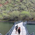 Landscape, View, Hikers, Floating Bridge, Pipeline Canyon Hiking Trail, Lake Pleasant, Phoenix Area, Phoenix, Arizona, Lake, Cove, Family Hikes, Water Feature Hikes