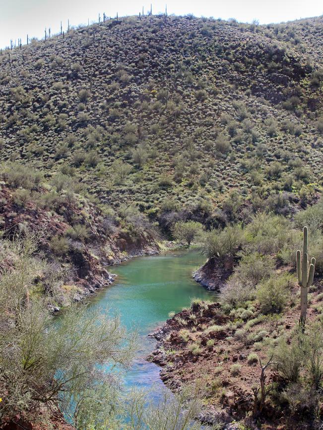 Landscape, View, Aqua Fria River, Hills, Pipeline Canyon Hiking Trail,Lake Pleasant, Phoenix Area, Phoenix, Arizona, Family Hikes, Water Hikes