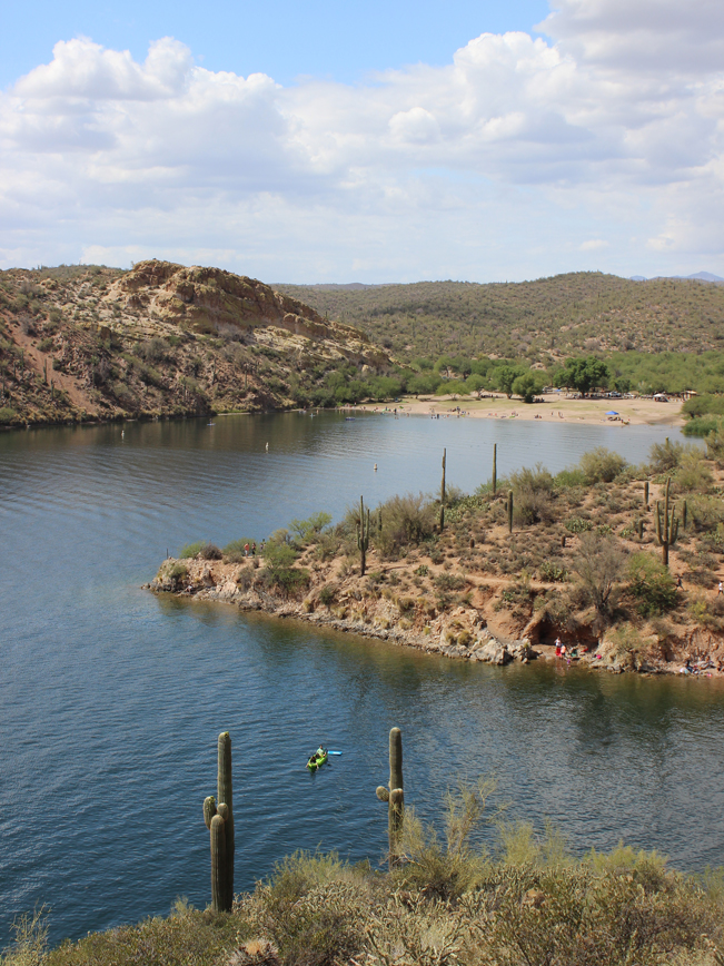 Landscape, View, Beach, Coves, Butcher Jones Recreational Area, Saguaro Lake, Arizona, Butcher Jones Hiking Trail. Moderate Hikes. Phoenix Area Hikes. Family Friendly Hikes. Pet Friendly Hikes.