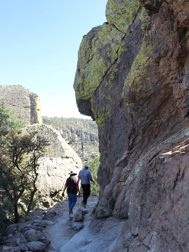 Landscape, View, Hikers, Echo Canyon Hiking Trail, Grotto, Southeastern, Arizona. Chiricahua National Monument, Willcox, Hoodoos, Moderate Hikes, Family Friendly Hikes, Tucson Area HIkes