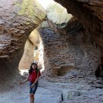 Girl, Hiker, Grotto, Southeastern, Arizona, Chiricahua National Monument, Echo Canyon Hiking Trail, Willcox, Moderate Hikes, Family Friendly Hikes, Southern Arizona HIkes