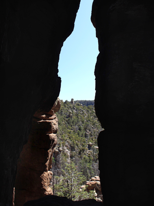 Opening, Window, Hoodoos, Echo Canyon Hiking Trail, Chiricahua National Monument, Willcox, Southeastern, Arizona, Stone, Spires, Moderate Hikes, Family Friendly Hikes, Tucson Area Hikes