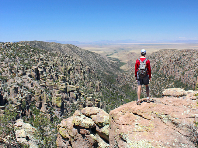 Landscape, View, Hiker, Inspiration Point, Mountains, Valleys, Hoodoos, Chiricahua National Park, Heart of the Rocks, Southeastern, Arizona, Tucson, Tucson Area Hikes, Moderate Hikes