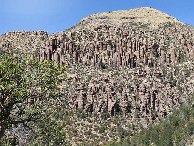 Landscape, View, Hoodoos, Sarah Deming Hiking Trail, Chiricahua National Monument, Heart of the Rocks, Southeastern, Arizona, Willcox, Moderate Hiking Trails, Tucson Area Hiking Trails