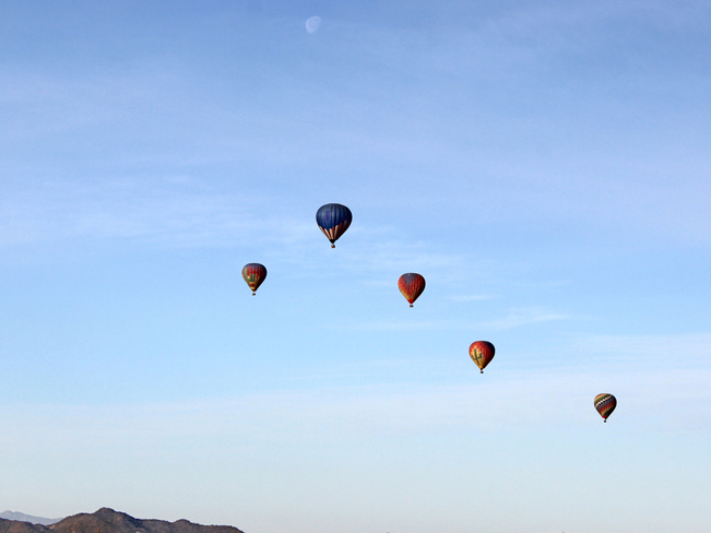 Balloons; Sky; Moon; Desert; Phoenix; Arizona; Sonoran Desert Preserve; Ridgeback Hiking Trail; Overton Hiking Trail; Sidewinder Hiking Trail. Phoenix Area Hikes. Moderate Hikes. Dog Friendly Hikes.